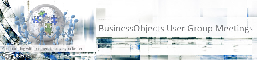Upcoming BusinessObjects User Group Meetings