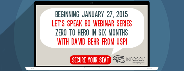 Let's Speak BO Webinar Series:  Zero to Hero in Six Months with David Behr