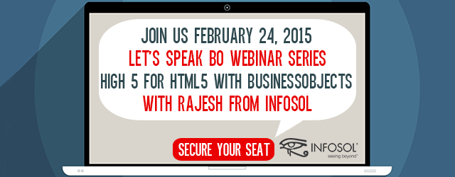 Let's Speak BO: High 5 for HTML5 with BusinessObjects