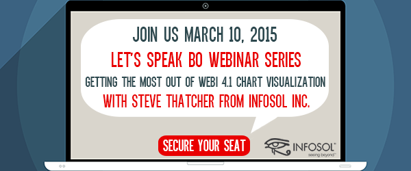 Let's Speak BO Webinar Series:  Getting the Most Out of Webi 4.1 Chart Visualizations