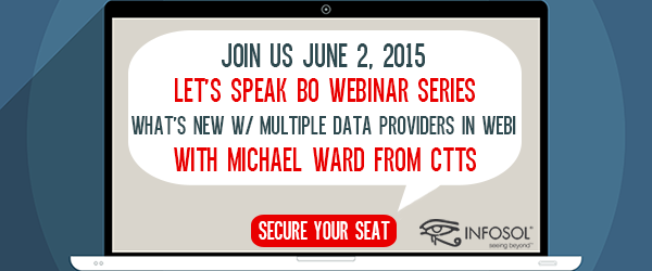 Let's Speak BO Webinar Series:  What's New with Multiple Data Providers in Webi?