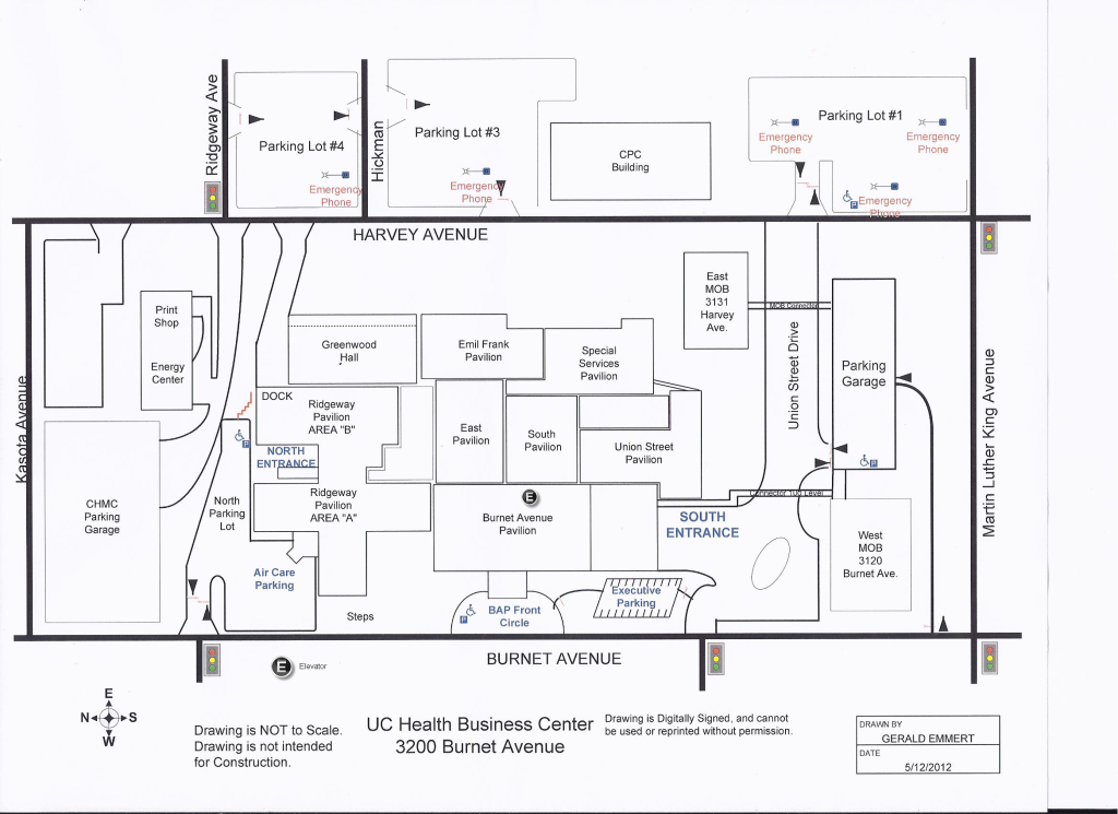 UC Health Business Center Map