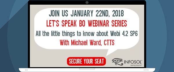 Let's Speak BO Webinar All the little things to know about Webi 4.2 SP6 January 22 2019
