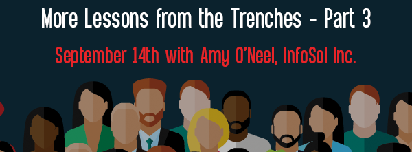 Let's Speak BO Webinar: More Lessons from the Trenches Part 3.5 September 14th 2021
