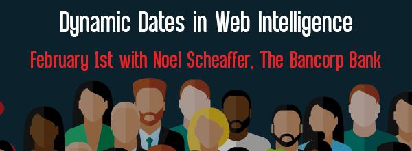 Let's Speak BO Webinar: Dynamic Dates in Web Intelligence on February 1st 2021