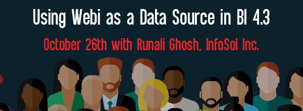 Let's Speak BO Webinar Using Webi as a Data Source in BI 4.3 October 26 2021